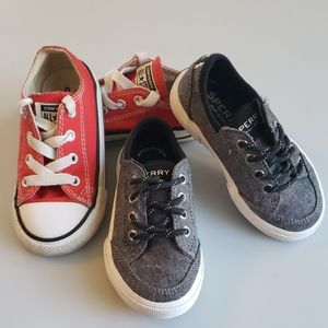 Sperry & converse size 7 toddler